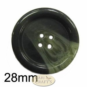 28mm variegated button Grey