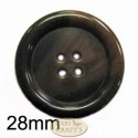 28mm variegated button Green
