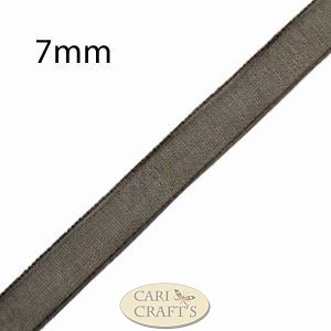 3mm Organza Ribbon Brown