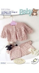 BHKC Baby Double Knit Knitting Pattern BHKC 043 Cardigans