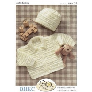 BHKC Baby Double Knit Jacket & Hat