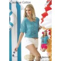 Style Craft Classique Cotton DK Knitting Pattern 8617 Tops