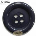 65mm Dark Brown Button