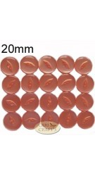 20mm White Fish-eye Buttons