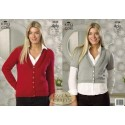 King Cole 4Ply Knitting Pattern 3524 cardigans