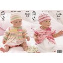 King Cole Baby Comfort Prints DK Knitting Pattern 3556 Coats and Hats
