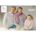 King Cole Magnum Chunky Jacket, Sweater, Hooded Top & Scarf Knitting Pattern