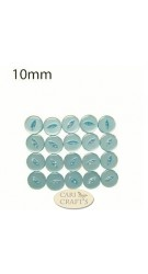 10mm White Fish-eye Buttons