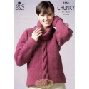King Cole Magnum Chunky 2758 Sweater & Sleeveless Top Knitting Pattern