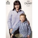 King Cole Magnum Chunky 2759 Sweater Knitting Pattern