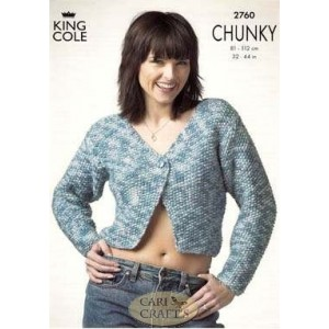 King Cole Magnum Chunky 2760 Sweater & Jacket Knitting Pattern