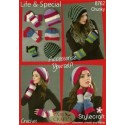 Life & Special Chunky Crochet Beanie Hat & Fingerless Mitts