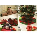 Double Knit & Chunky Rudolph Draught Excluder, Christmas Tree Skirt & Snowman Toy
