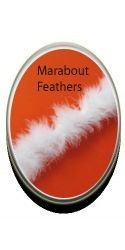 Strung Marabout Feathers